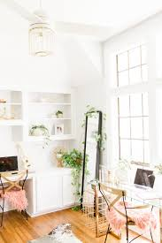 Paint for home office Color Schemes Modern Home Office With House Plants Gold Round Mirror Diy White Cabinets Makeover Before Joyfully Green Dark To Bright Office Make Over Diy Plus Finding The Perfect Shade