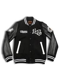 Rebellious One Size Chart Rebellious Lkng Script Logo Black Letterman Jacket