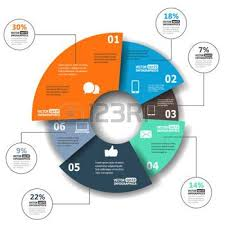 Modern Pie Chart Pie Chart Modern Paper Infographics In A Pie Chart For Web