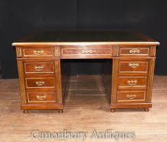 antique french napoleon iii partners desk gany writing table