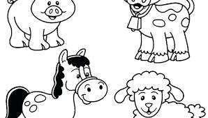 Kindergarten Farm Animals Coloring Pages Psubarstoolcom
