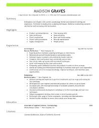 Esthetician Resume Examples Gorgeous Esthetician Resume Sample Objective Objective For Resume Examples