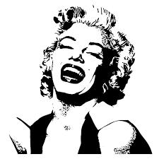 marilyn monroe stencil marilyn monroe silhouette