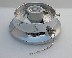 3 inch flush mount chrome er with pull chain ceiling or sconce light fixture base shade holder