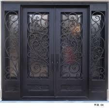 wrought iron exterior door steel doors fiberglass security