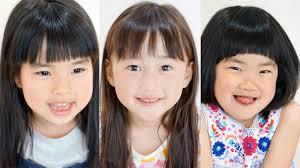 前髪の切り方動画ありぱっつんから軽めまで可愛い子どもカット3