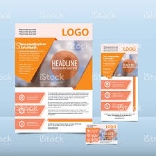 orange annual report the pattern brochure flyer business card 1 credit