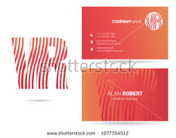 Membership Card Template Cool V R Waves Letter Design Business Stock Vector 48 Shutterstock