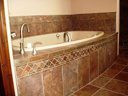 image of how to install tile around bathtub