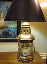re purposed national marine co lantern table lamp nautical lamps and lighting