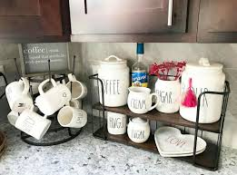 5 out of 5 stars (243) $ 159.00. Some Canisters Fit On This Hobby Lobby Rack Rae Dunn Shabby Chic Shower Curtain Rae Dunn Coffee Nook