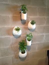 Fascinating Ceramic Wall Planters Set Five White Wall Pocket Succulent  Planter Set Hand Painted White Ceramic Wall Planters Hole Drilled Back For  Easy ...