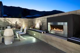 image of outdoor gas fireplace units