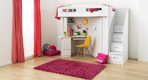 integrated loft bed with staircase storage wardrobe and study