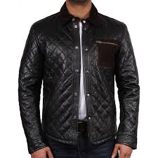 men s black leather jacket patched