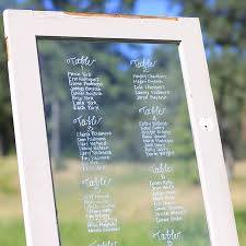 Seating Chart In Our Wood And Glass Vintage Door Forever