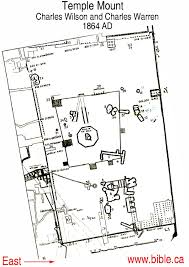jerusalem temple mount the charles wilson and charles warren map