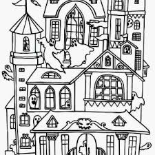 Small Picture Haunted House To Color Halloween Coloring Pages 02gif Coloring