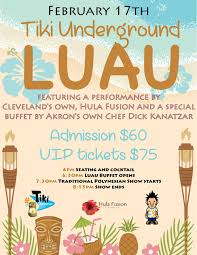 Luau Flyer Tu Luau Flyer Feb 2018 Heahea To Tiki Underground