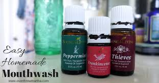 easy homemade mouthwash yleo thieves care