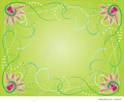 Templates Spring Floral Border Stock Illustration I1260138 At
