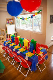 The Frosted Petticoat: In Your (Lego) Dreams! Party Table- Primary bold