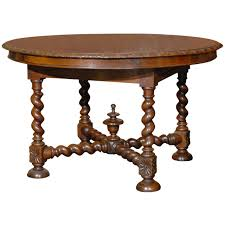 Round Table San Bruno Ave English Round Table With Barley Twist Legs At 1stdibs