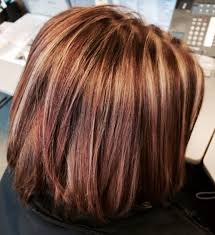 Hairstyles Burgundy Hair With Caramel Highlights Exquisite Medium