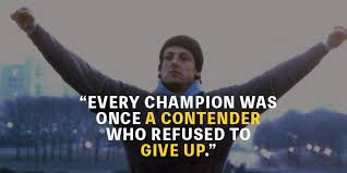 Champion Quotes Stunning Top 48 Rocky Quotes To Get You Through Hard Times MotivationGrid