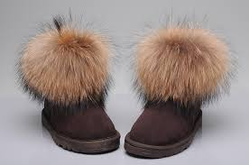 ... ugg fox fur mini boots 5854 chocolate,ugg slippers kids,uggs leather  boots USA ...