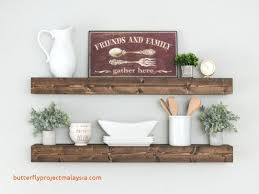 floating shelves wall farmhouse decor rustic shelf white wood