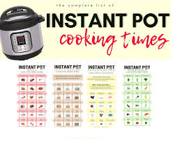 Pressure Cooker Rice Chart The Ultimate Guide To Instant Pot Cooking Times Free Pdf