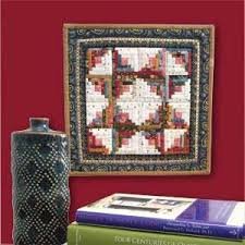 13 best Miniature Quilt Patterns images on Pinterest | Mccall's ... & TINY CABIN Miniature Log Cabin quilt pattern Designed and machine quilted  by EDYTA SITAR Patterned in Adamdwight.com