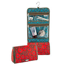 Red Lace Hanging Toiletry Organizer ...