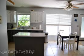 painted white kitchen cabinets before and after. Kitchen After - Painted Cabinets Grey And White #DIY Before