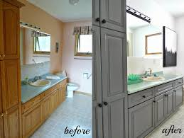Painting bathroom vanity before and after Gray Painting Bathroom Vanities Before And After Good House Idea Easy Ways Of Painting Bathroom Vanity before And After Tips Good