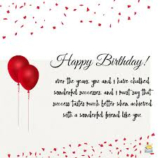 birthday message for a special friend