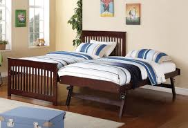 Salinas Twin Bed w/ Pop-Up Trundle - Beds - Bedroom Furniture ...