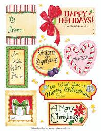 Gooseberry Patch: Printable Holiday Labels - Savings Tips - SavingsMania