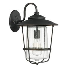 creekside old bronze one light outdoor wall lantern with seeded glass capital lighting fix