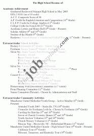 template high school student resume format high school resume format