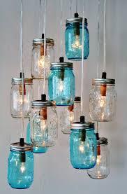 decoration upcycled diy hanging mason glass jar pendant lighting design inspirations in fascinating colors diy vintage mason jar chandelier