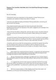Response from Councillor Linda Wade, Earl's Court Ward Royal ...