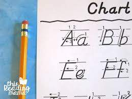 Manuscript Letter Formation Chart Dnealian Handwriting Charts Free This Reading Mama