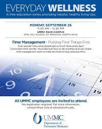 Ummc Employee Wellness Series Time Management Email Sept