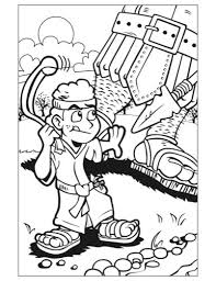 Beginners Bible David And Goliath Coloring Pages Preschool David