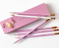 personalised work and play gift boxed pencils