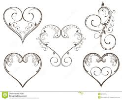Scroll Heart Floral Heart Scrolls Stock Vector Illustration Of Ornaments
