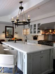 charming chandelier over kitchen island with mini sink lighting hanging inspirations pictures
