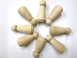Wooden Peg Games Peg Wooden people dolls for Wood Toys and games Angel Peg dolls 89